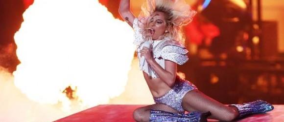 foto IPP/imago/BPI Houston 05/02/2017 football americano - 51esimo NFL Superbowl nella foto lo show di lady gaga durante l'intervallo WARNING AVAILABLE ONLY FOR ITALIAN MARKET